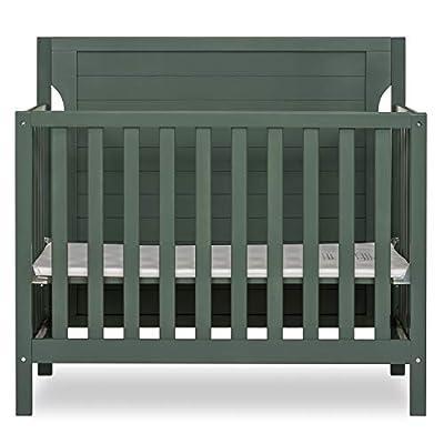 Dream On Me Bellport 4 in 1 Convertible Mini/Portable Crib I Mini Baby Crib I Includes 1.5 Mattress, Safari Green by AmazonUs/DREAY