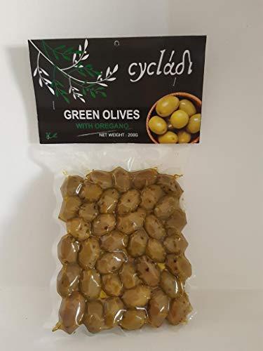 Cycladi Grüne Oliven mit Oregano Vakuum-Packung, 200 g