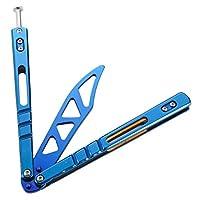 CS折りたたみ式蝶トレーニングツール,練習フォールディングナイフ,ブルー
