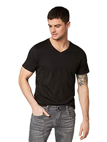 TOM TAILOR Herren T-Shirts/Tops T-Shirt im Doppelpack Black,L