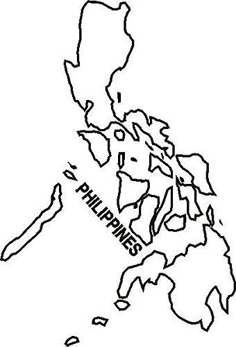PEMA INDIGOS UG - Wandtattoo Wandsticker Wandaufkleber Aufkleber M143 Landkarte Philippines 40 x 27 cm Farbwahl 48 Farben