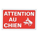Ami Confort 6ANI643 Plaque attention chien 33 x 20cm, Rouge
