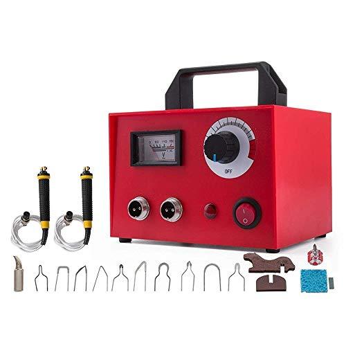 Sygjal 100W Pyrography Equipo 11 Consejos Pluma portátil de leña Kit multifunción de Madera pirograbado Kit Dual de la Pluma Planchar