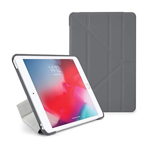 Pipetto Origami - Funda para iPad Mini 5 (2019) / Mini 4 con función Atril 5 en 1 y función de Encendido y Apagado automático, Color Gris Oscuro