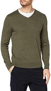 Amazon Brand - Meraki Men's Lightweight Cotton V-Neck Sweater