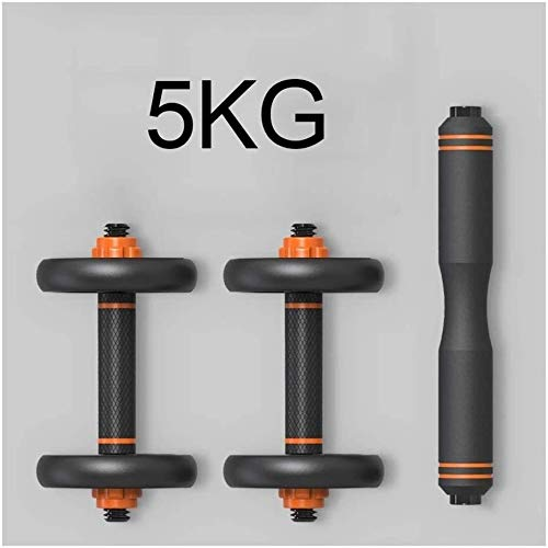 LCNING Dumbbell Set Gym Bicep Weight Training Large Dumb Bells Barbell Strength Weight 10KG 20Kg 30GK 40KG Adjustable (Color : 5KG/11lbs)