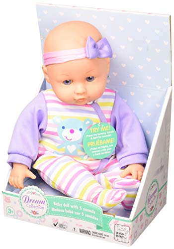 "DREAM COLLECTION 14"" Chatter & Coo Girl Baby Doll"