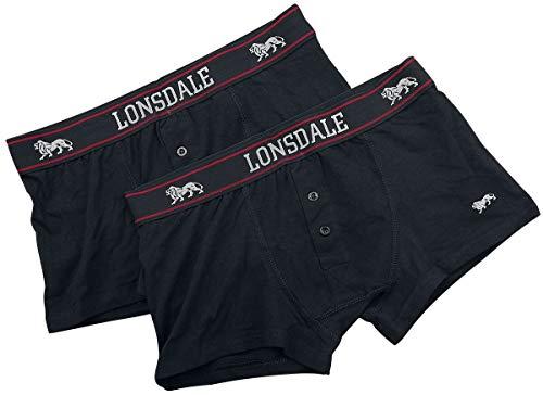 Lonsdale 2tlg. Set Boxershorts Langsett schwarz 2XL