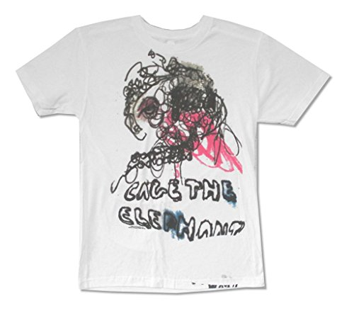 Cage The Elephant One Ear Abstract Image White T Shirt CTE (S)