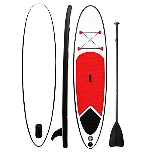 MXSXN Tabla De Paddle Surf Inflable para Todos Lados 126 * 33 * 5.9', 330 Libras De Capacidad Sup Estable, Versátil, Duradera Y Liviana para Todos Los Niveles De Habilidad Paddleboard