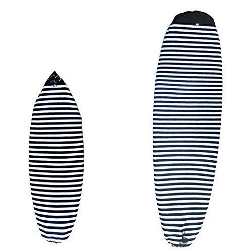 Bolsa de Tabla de Surf, Funda de Calcetines de Tabla de Surf Seca Funda Protectora de Almacenamiento de Tabla de Surf Funda de calcetín de Surf Bolsa de día de Viaje (Blanco y Negro, 180 * 50 cm)