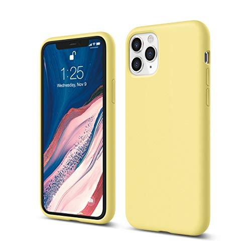 """elago Silicona Líquida Funda Compatible con iPhone 11 Pro (5.8""""), Silicona Premium, Protección Funda Protectora 3 Tapas Estructura (Amarillo)"""