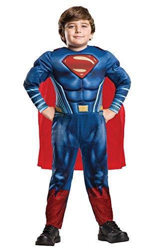 DC Comics - Disfraz de Superman Deluxe para niño, infantil 5-6 años (Rubie