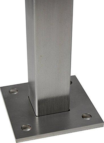 Edelstahl Geländerpfosten - Höhe 950 mm - Poller Treppengeländer Geländer Balkongeländer Rohr Pfosten Höhe 950 mm