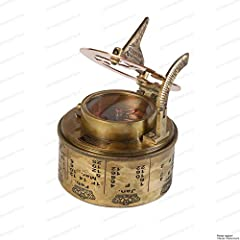 US HANDICRAFTS Vintage Compass Navigational Instrument - Marine Sundial Compass With Leather Case & Calendar…. #3