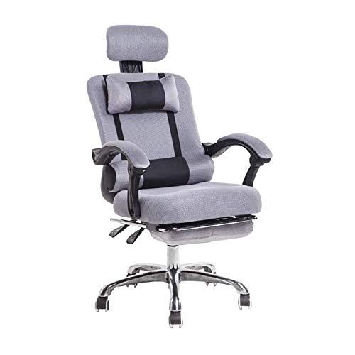 HMBB Sedie da Scrivania, Sedie Office Home Office Desk Sedie ergonomiche Sedia da Ufficio con poggiapiedi a Scomparsa Comoda Altezza Regolabile con braccioli, Caster