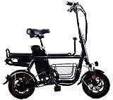 Bicicleta eléctrica Bicicleta eléctrica por la mon Viajes bicicleta eléctrica plegable de la batería de litio eléctricos de dos ruedas de la bicicleta de adulto Padre-Niño doble con amortiguador de ma