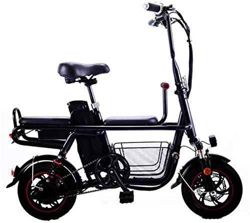RDJM Bici electrica, Viajes Bicicleta eléctrica Plegable de la batería de Litio...