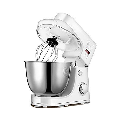 LKNJLL Stand Mixer, 800W Dough Mixer Tilt-Head Electric Mixer with 5-Quart Stainless Steel Bowl, Dough Hook, Mixing Beater and Whisk, Splash Guard