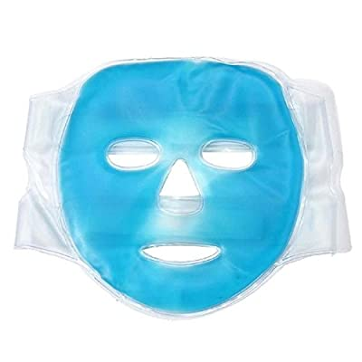 Cooling Full Face Gel Mask, Ice Mask for Puffy eyes - Relaxation & Thermal Relief - Use Hot or Cold to relieve Stress and Tension