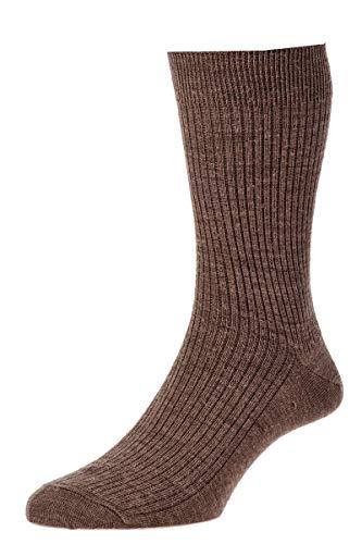 HDUK Mens Socks Herren Socken Braun dunkelbraun UK 6-11 EU 39-46