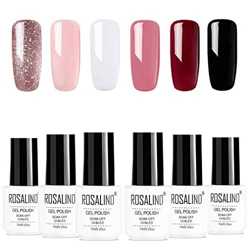ROSALIDN esmalte semi-permanente para uñas uv gel polish manicura set, 6pcs/lot, 7ml