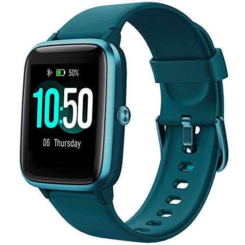 YAMAY Smart Watch Fitness Tracker Watches for Men Women, Fitness Watch Heart Rate Monitor IP68 Waterproof Watch with Step Calories Sleep Tracker, Smartwatch Compatible iPhone Android Phones (Green)