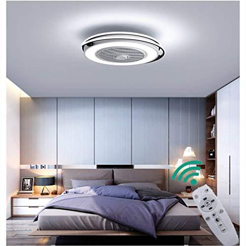 Modern Creative LED Fan Ventilator Aan Het Plafond LED Plafond Licht Met Afstandsbediening Stille Slinger Slaapkamer Lamp Woonkamer Kwekerij Kantoor Kinderkamer Hanglamp Verlichting Kroonluchter