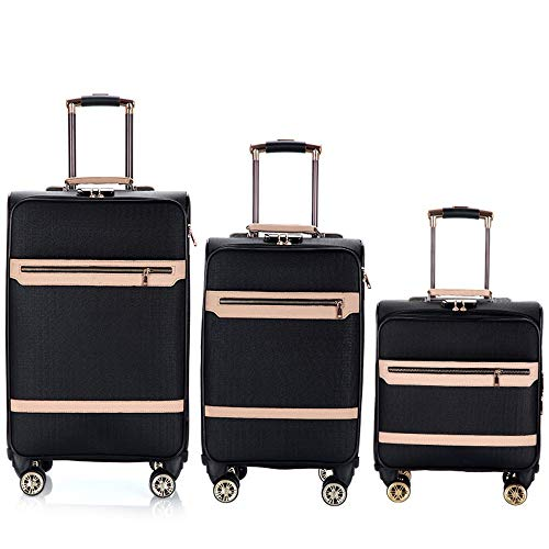 Find Discount Travel Luggage 16in 20in 24in Luggage For Men And Women 3 Piece Sets Expandable Uprigh...