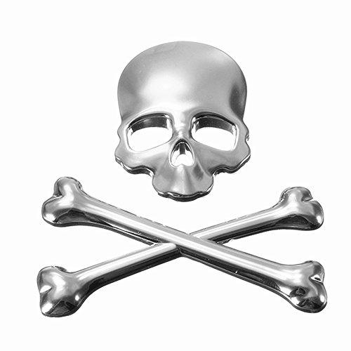 GS Cool personalità 3D teschio di metallo scheletro Crossbones auto moto emblema distintivo sticker Car styling stickers accessori