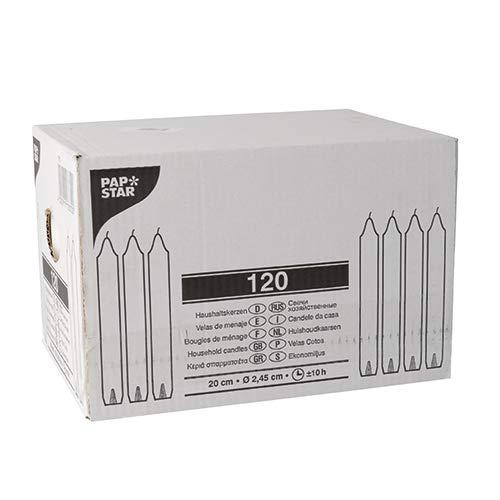 6er Pack Tafelkerzen glutrot Haushaltskerzen 21 x 190 mm 6 x 18 Stück ca