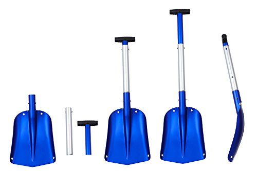 MQUMSA Portable Colorful Telescopic Aluminum Car Adjustable Extended Edition Snow Shovel (Blue)