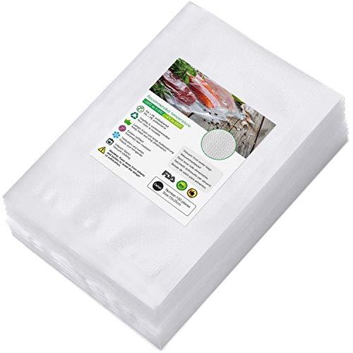 Sac Sous Vide Alimentaire de 100 Sacs 15 x 25cm Sacs Sous Vide Pack, sans BPA, LFGB, pour Conservation des Aliments, la Cuisson et Cuiseur Sous Vide