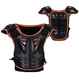 ZOYLINK Chest Back Protector Reflective Body Protector Vest Body Armor Vest for Children
