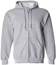 Gildan Men's Soft Pouch Pockets Full Zip Hooded Sweatshirt, Sport Grey, Medium