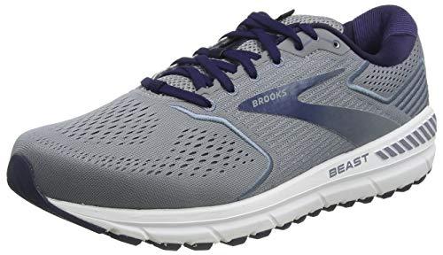 Brooks Mens Beast '20 Running Shoe - Blue/Grey/Poseidon - 4E - 11