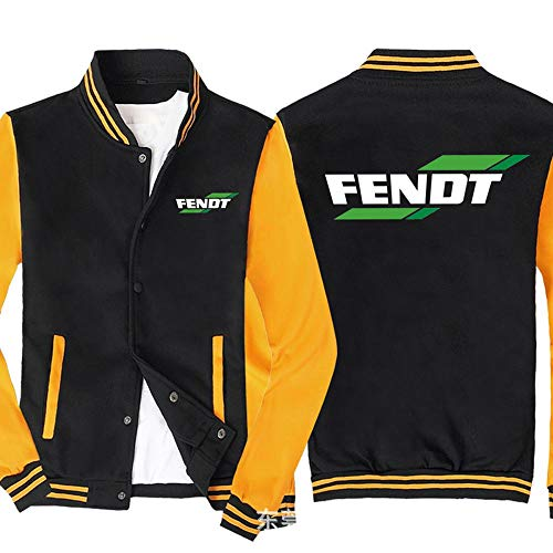 ker Männer Pullover Jacke - FENDT Printed Sweatshirt Baseball-Trikot Langarm-Zip Trainingsjacken - Teen Gift Black Yellow-3XL
