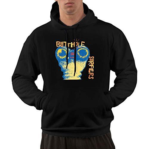 YaoJun-Hoodie Homme Butthole Surfers Independent Worm Saloon Casual Style Casual Hoodie Sweatshirt Kangaroo Black