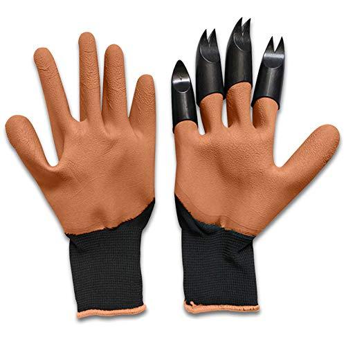 Senbos Garden Genie Gloves Guantes de Jardín Impermeables con Garras en Una Mano para Excavar, Siembra Rápida y Fácil Sin Herramientas, Regalos de Jardinería para Mujere y Hombre