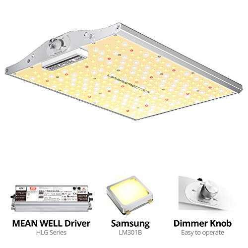 VIPARSPECTRA Latest XS1500 LED Grow Light Compatible with Samsung LM301B Diodes & MeanWell Driver, Dimmable Full Spectrum Plant Grow Light for Indoor Plants Seeding Veg and Bloom