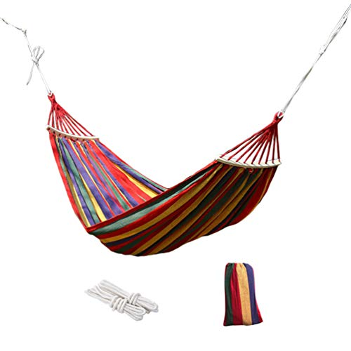 N / A Garden Camping Hammock, Portable Hammock – Perfect for Camping & Outdoors or Gardens and Travel – Max Load 200kg