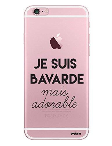 Evetane Coque Compatible avec iPhone 6/6S Transparente Rigide Solide Bavarde mais Adorable Ecriture Motif Tendance