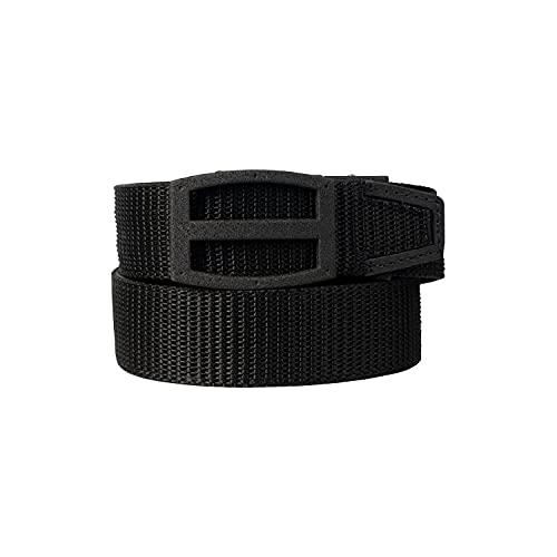 Nexbelt Ratchet Gun Belt for Men - Tactical EDC Titan Black PreciseFit Nylon Gun Belt for Concealed Carry