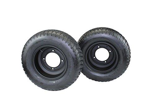 Antego Tire & Wheel (Set of 2) 20x8.00-10 Tires with 10x5 Segway Black Wheels