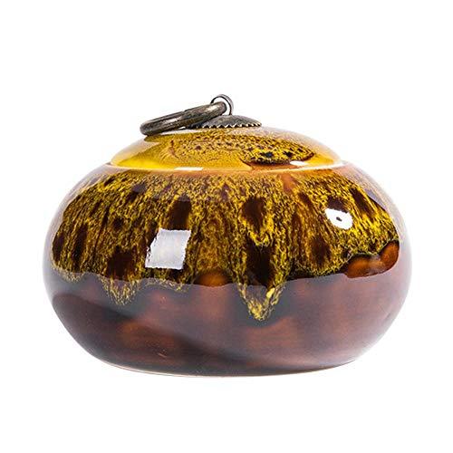 Tarro de almacenamiento de alimentos de cerámica con tapa hermética, recipiente de alimentos pequeño para café, té, azúcar, sal 10 onzas líquidas, 280ml/9.8oz-yellow, Talla...