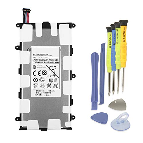 ANTIEE SP4960C3B Batteria del Tablet per Samsung Galaxy Tab 2 7.0 GT-P3100 P3108 P3110 P3113, Tab 7.0 Plus GT-P6200 GT-P6201 GT-P6208 GT-P6210 GT-P6211 SGH-T869 Battery with Installation Tool