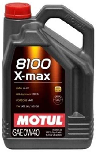 Motul 8100 X-max 0W40 volledig synthetische motorolie WSSM2C937A 505 00 LL-01, 5 liter