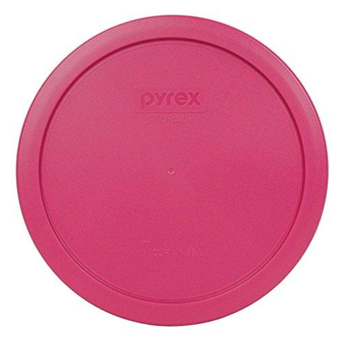 Pyrex 7402-PC 7 Cup Fuchsia Pink Round Plastic Lid (4, Fuchsia Pink)