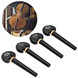 Clavijas de afinación, accesorios para violonchelo, clavijas de afinación para violonchelo, hermosos colores Producción fina para principiantes Instrumentos musicales Violonchelo