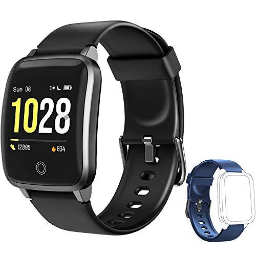 Yishark Orologio Fitness Tracker Smartwatch Activity Tracker Uomo Donna Cardiofrequenzimetro da Polso Impermeabile IP68 Smart Watch Contapassi Calorie Sonno Orologio Sportivo per Android iOS